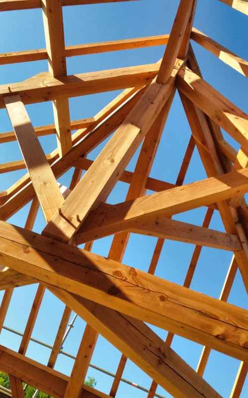 Roof framing and roofing